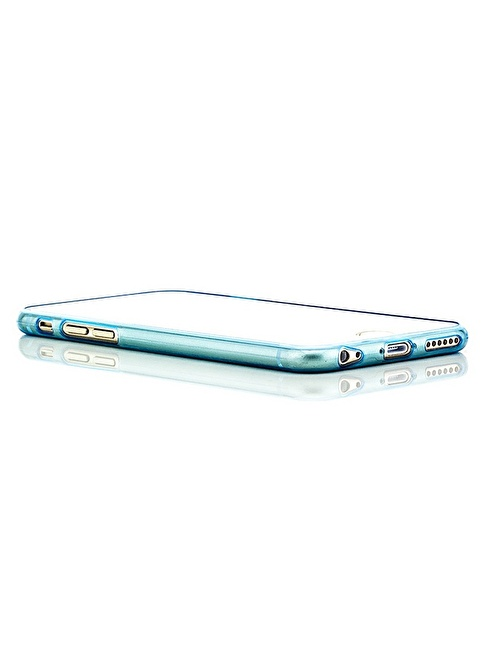 Microsonic Slim Transparent Soft iPhone  6 Plus (5.5'') Kılıf Mavi Renkli